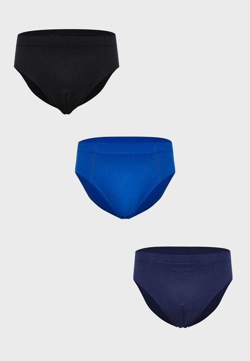 3 Pack Plain Briefs