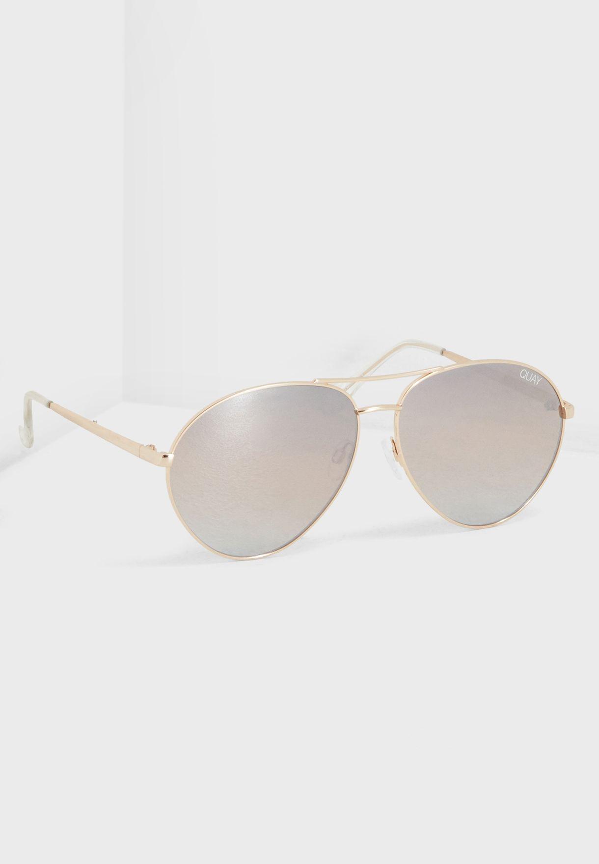 557065c0dd Shop Quay Australia gold Just Sayin Sunglasses QW-000406-GLD BRN for ...