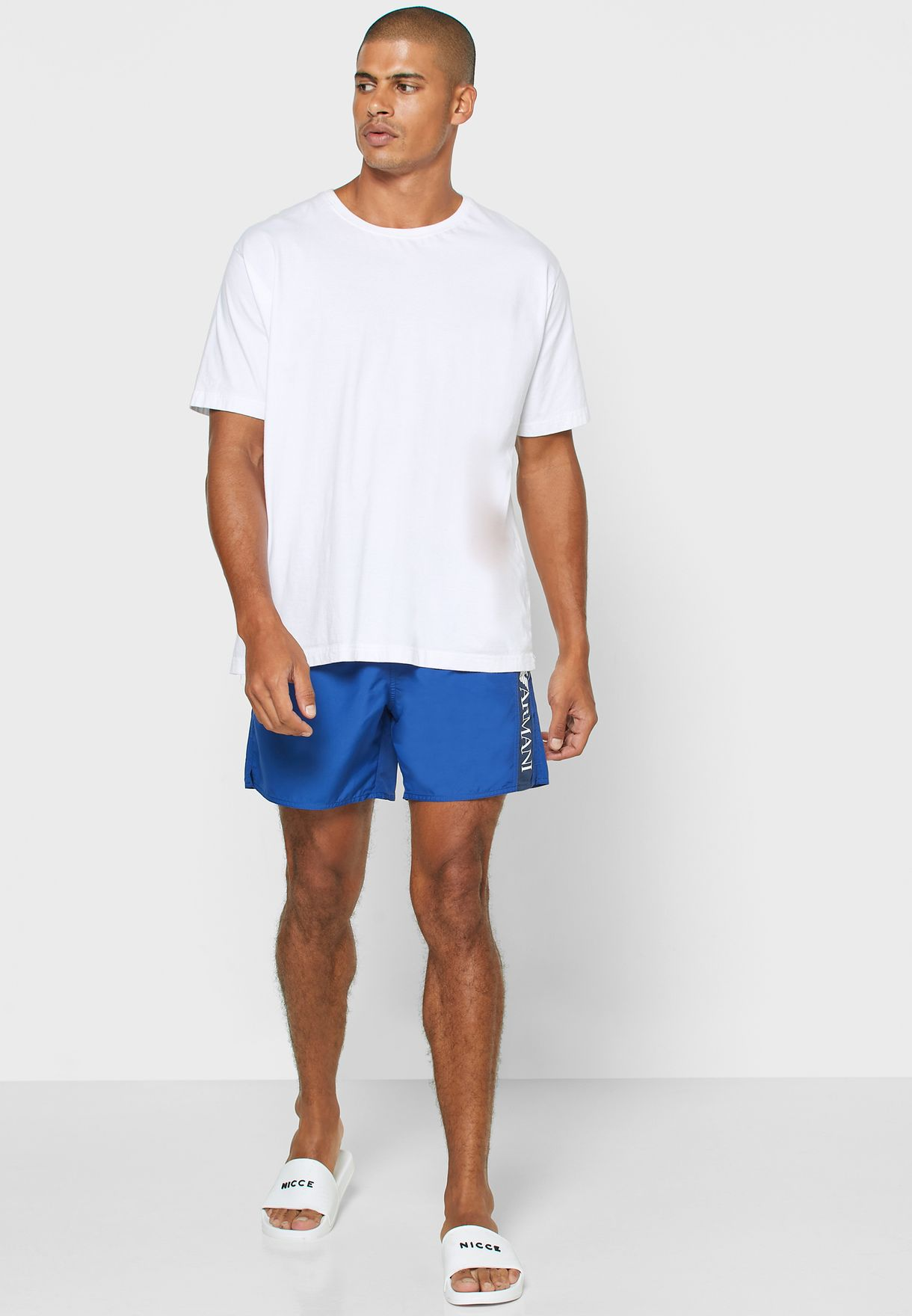 Side Tape Logo Swim Shorts