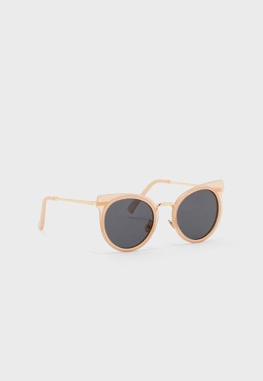 نظارة شمسية دائرية بنمط عين القط