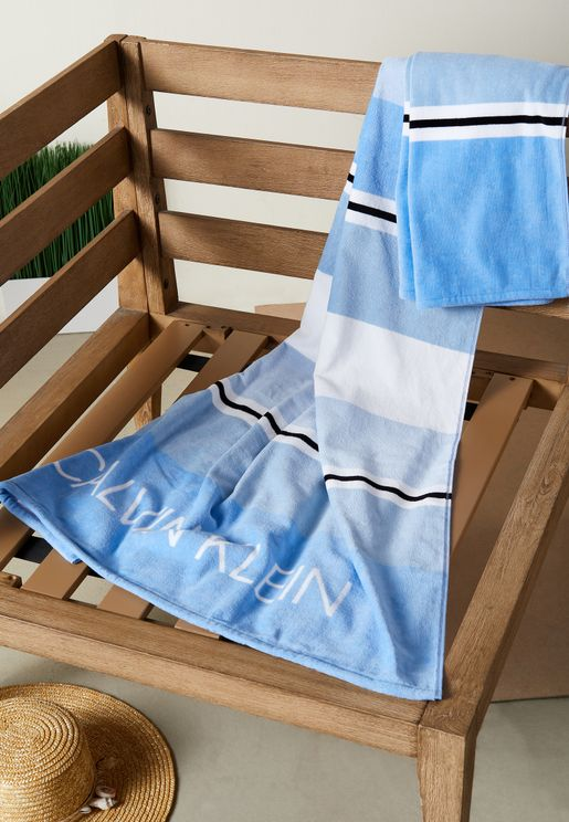 Striped Beach Towel 91X183cm