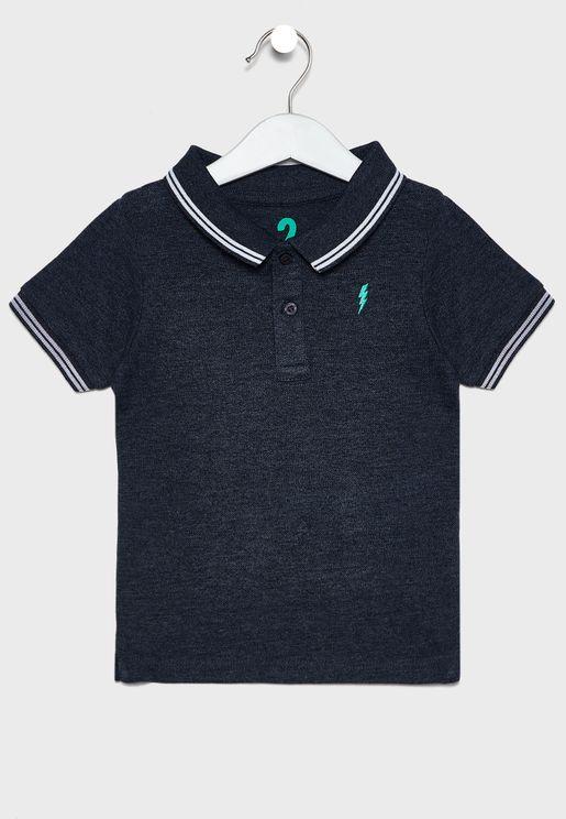 Kids Pocket Detail Polo