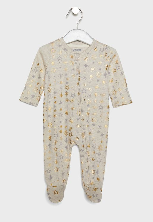Infant Star Print Romper