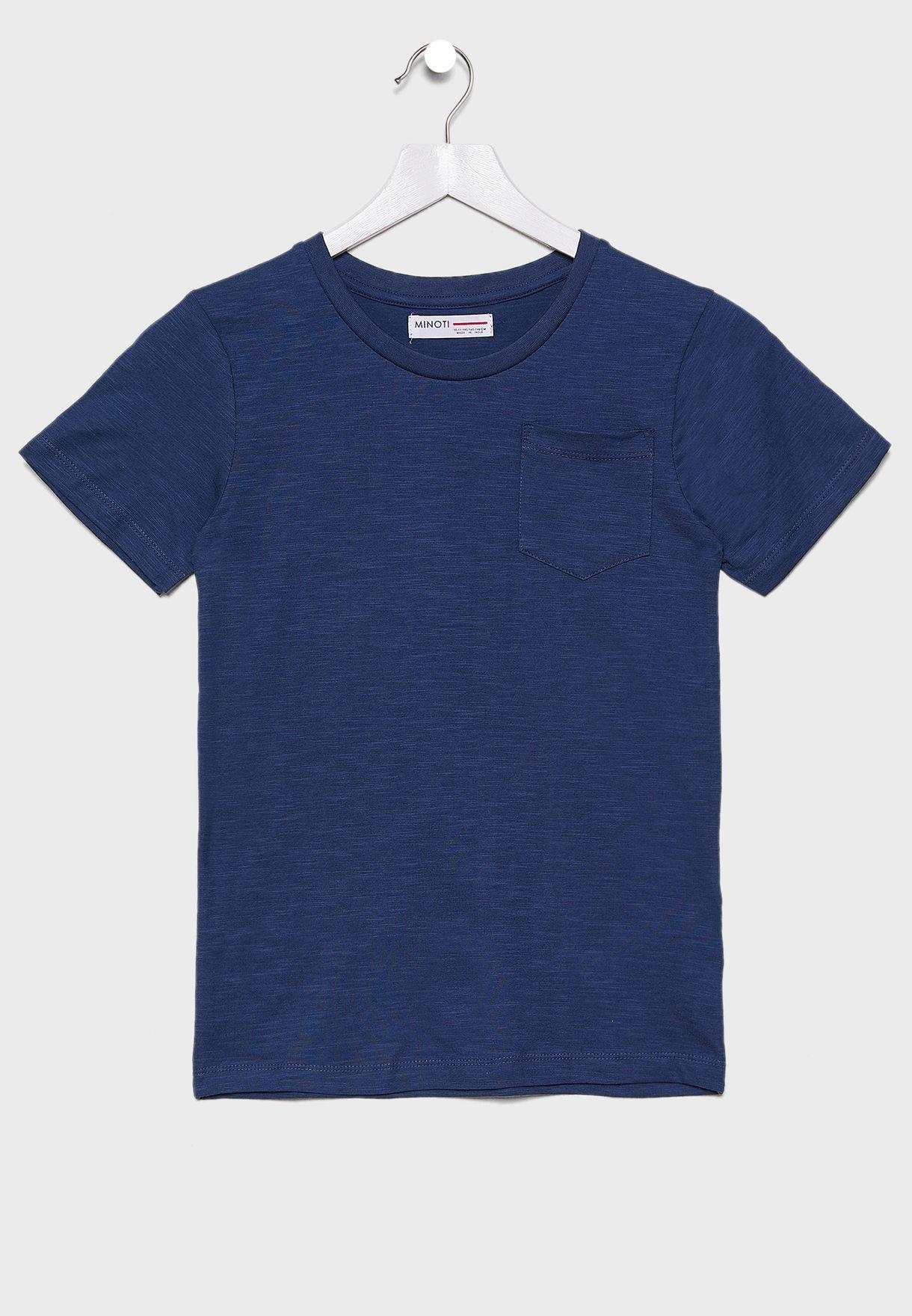 Teen Pocket Detail Crew Neck T-Shirt
