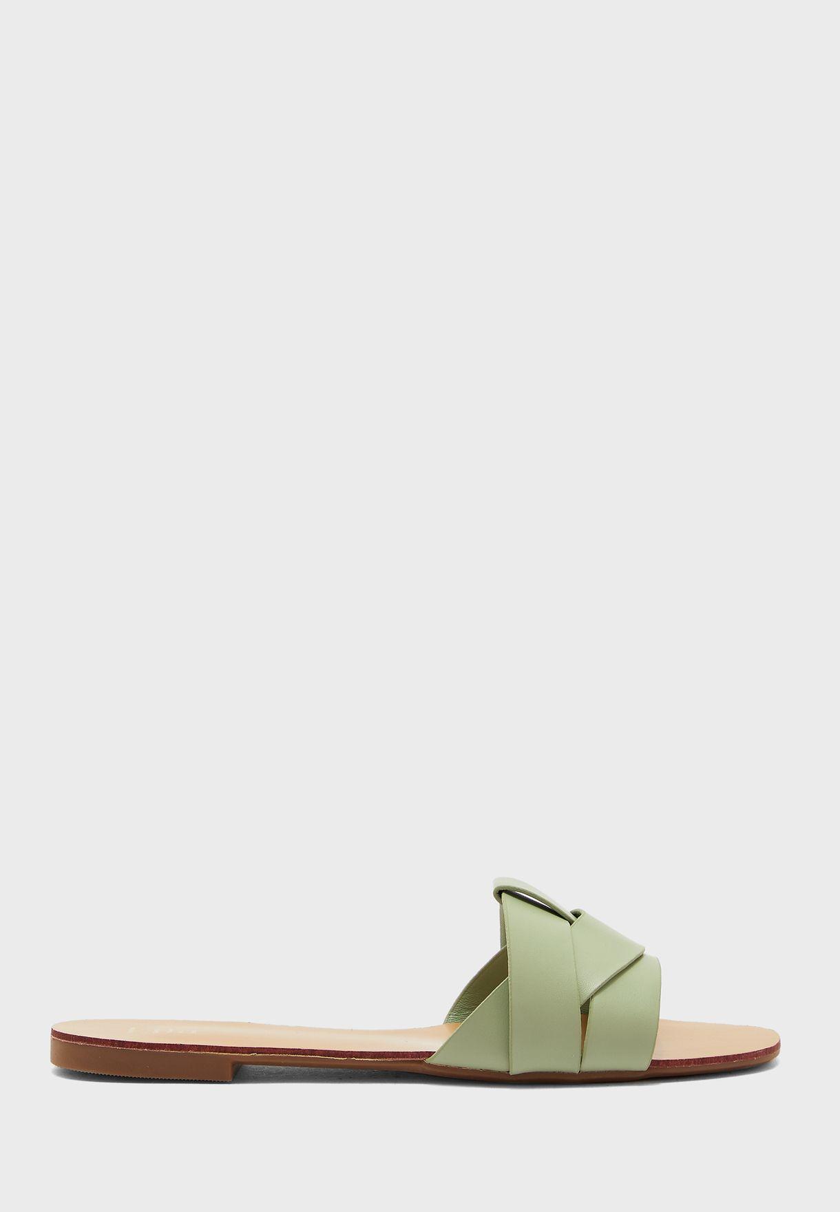 Woven Design Flat Sandal