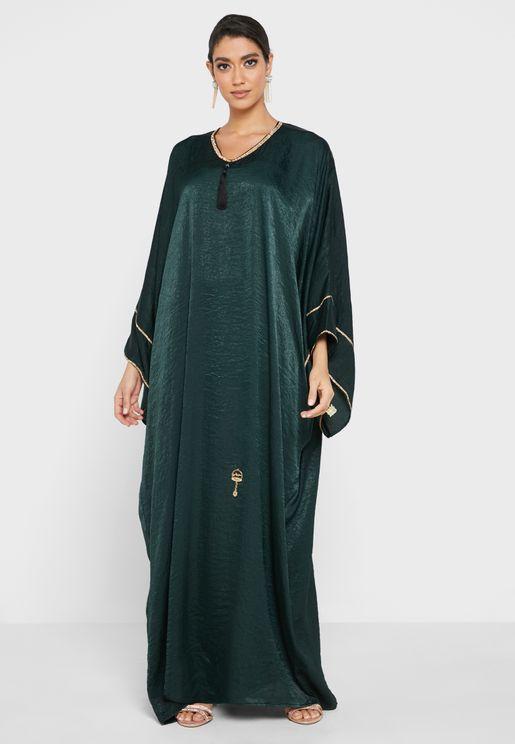 Shimmer Piping Abaya