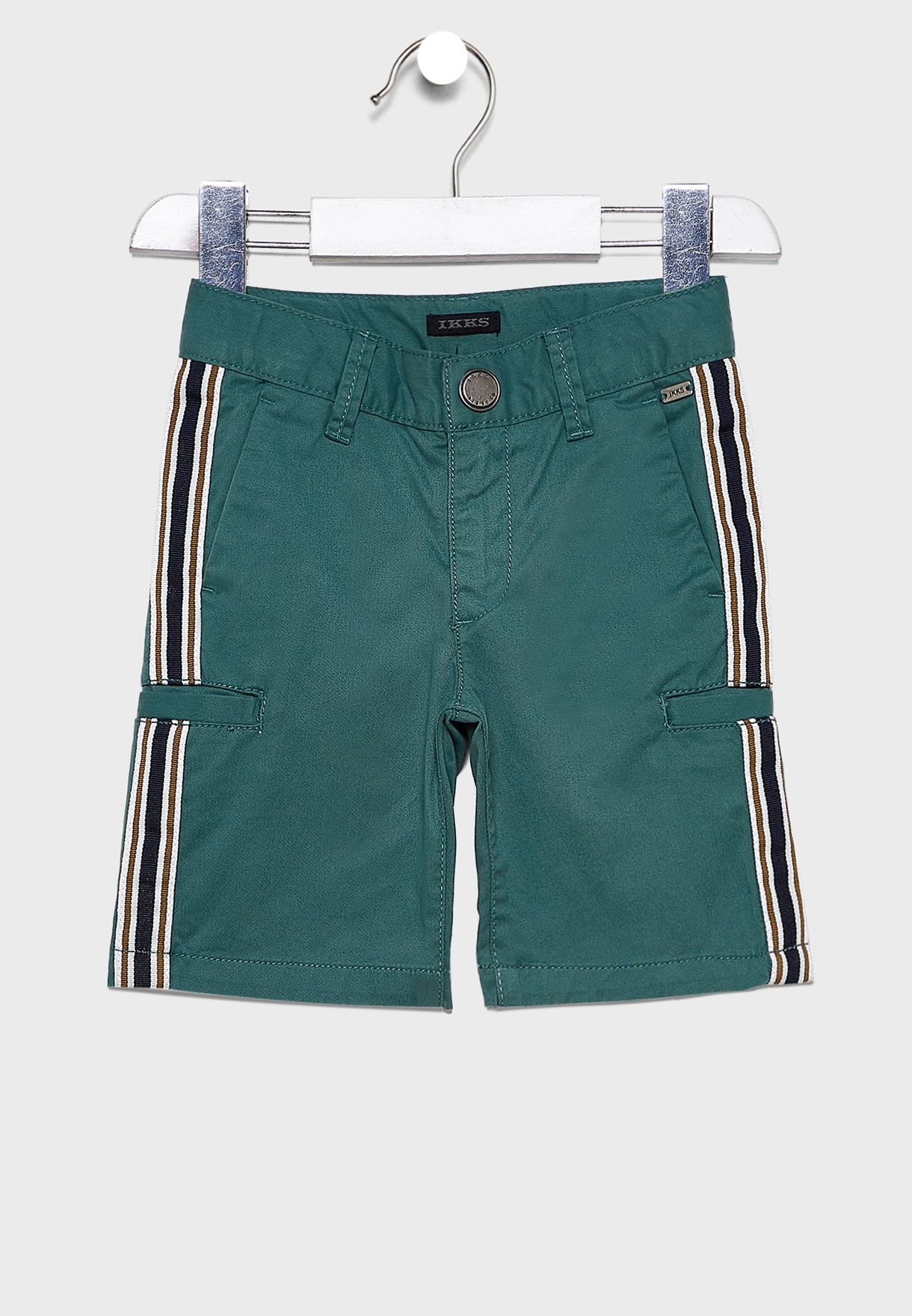 Kids Side Tape Striped Shorts