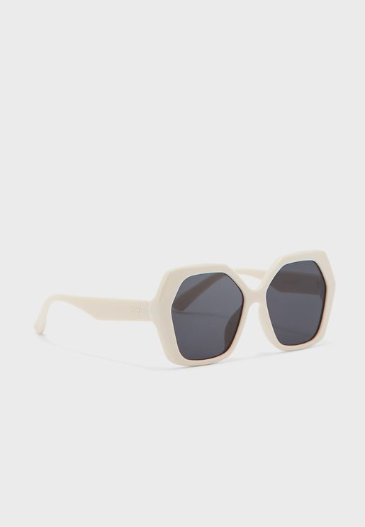 Oversized Hexagon Sunglasses