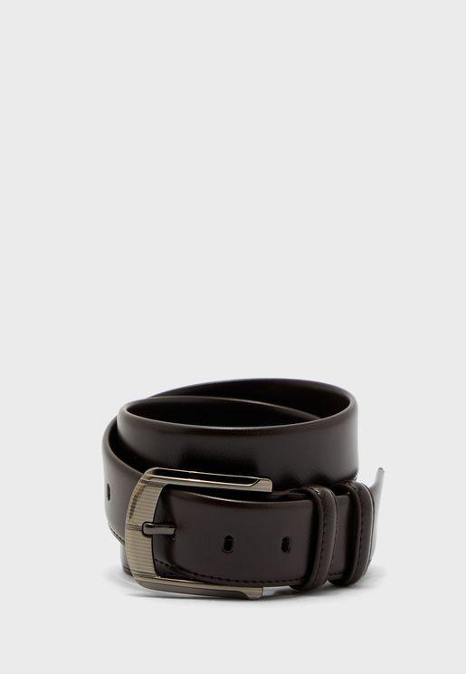 حزام جلد صناعي