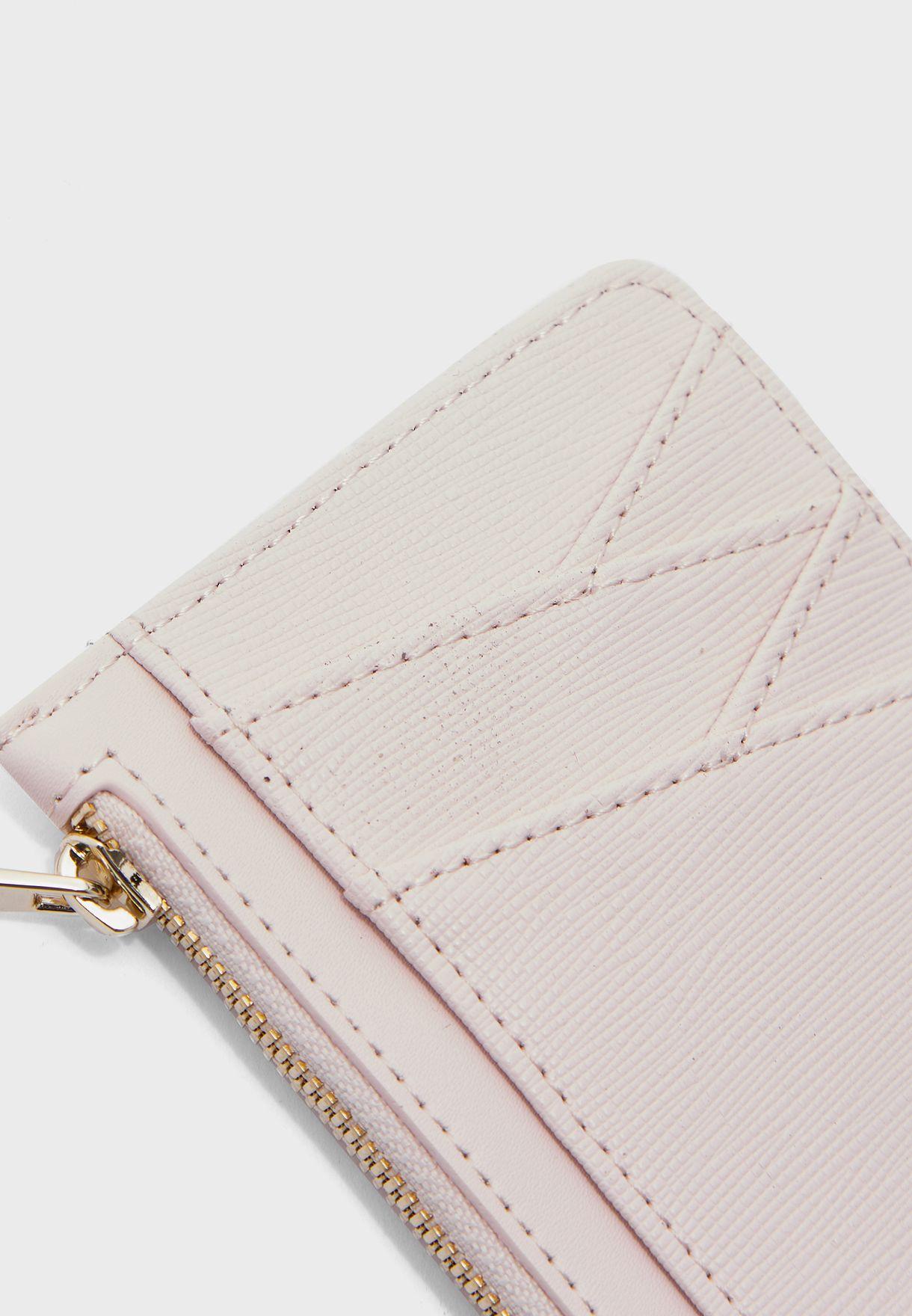 Diagonal Zip Through Card Holder