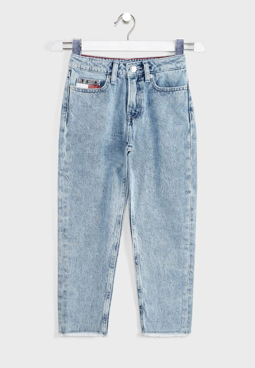 Teen High Rise Tapered Jeans