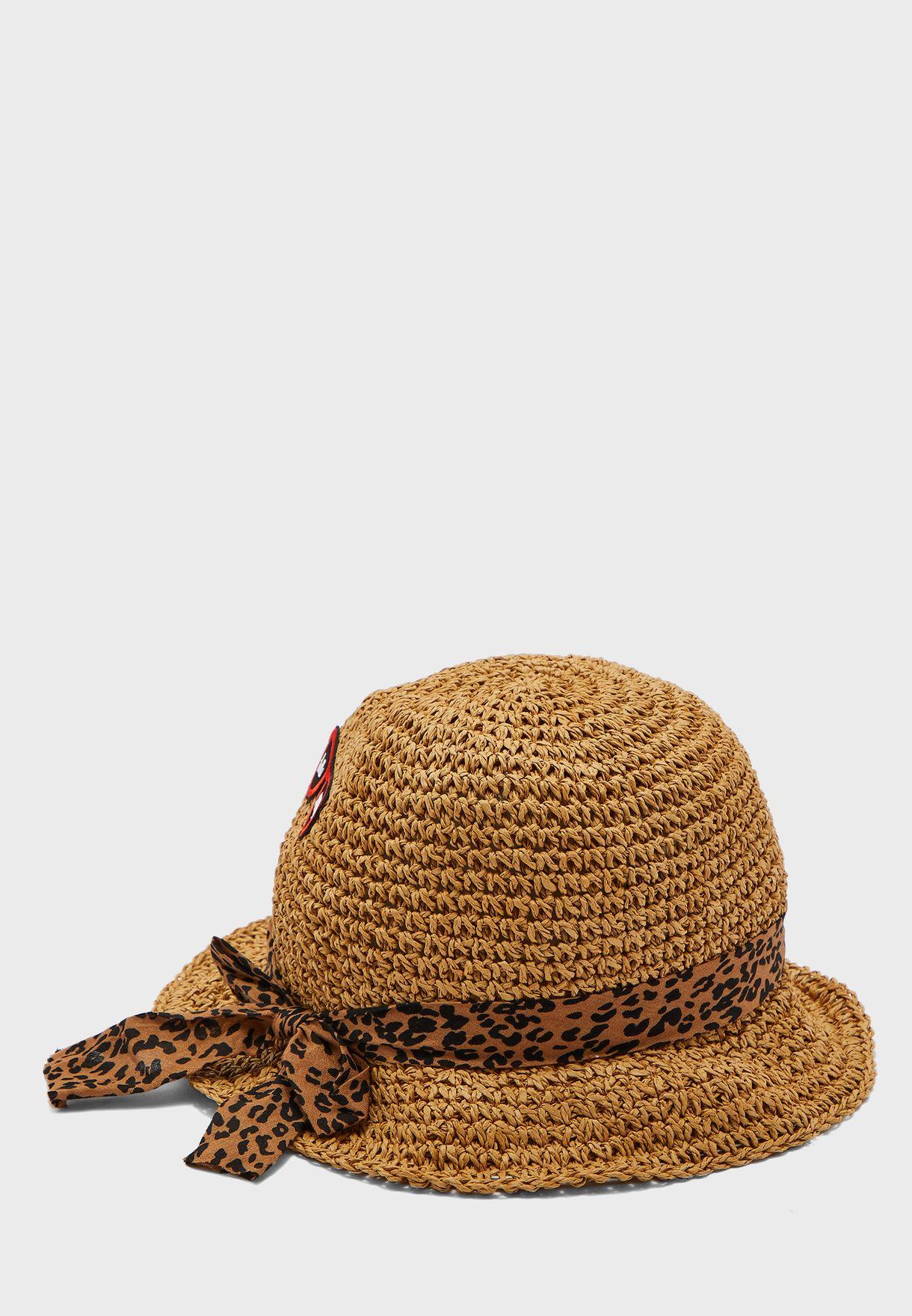 Kids Embroidered Bucket Hat