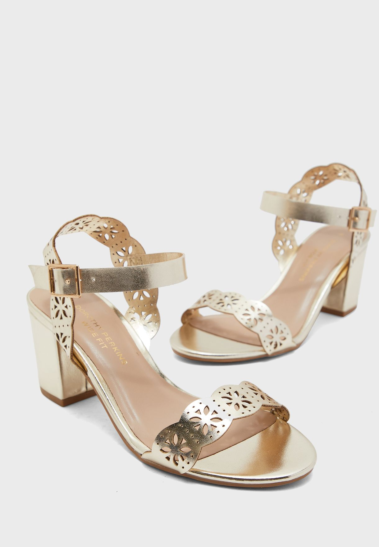 Buy Dorothy Perkins gold Wide Fit Gold