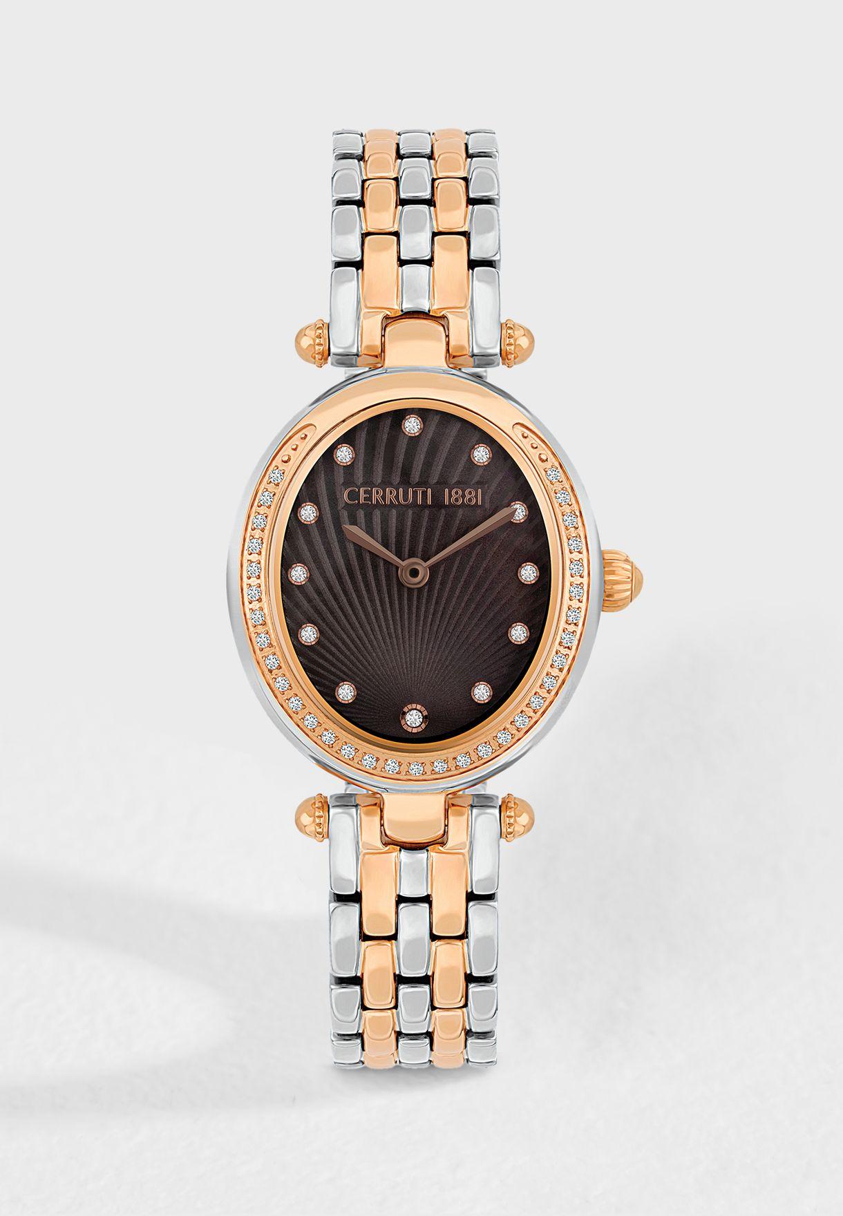 cae5d49926a Shop Cerruti 1881 silver Nemi Analog Watch C CRWM19908 for Women in ...