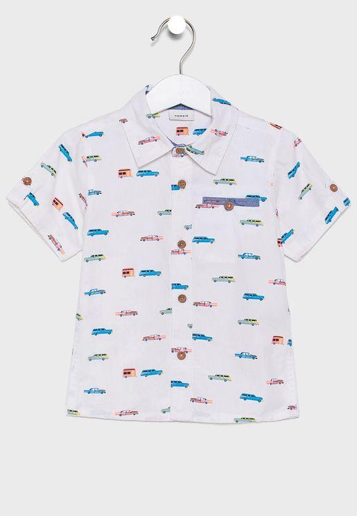 قميص اطفال بطبعات سيارات