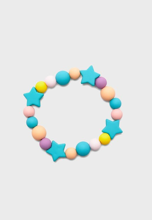 Kids Multipack Rubber Beaded Bracelets