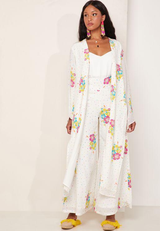 Lodi Printed Silk Robe