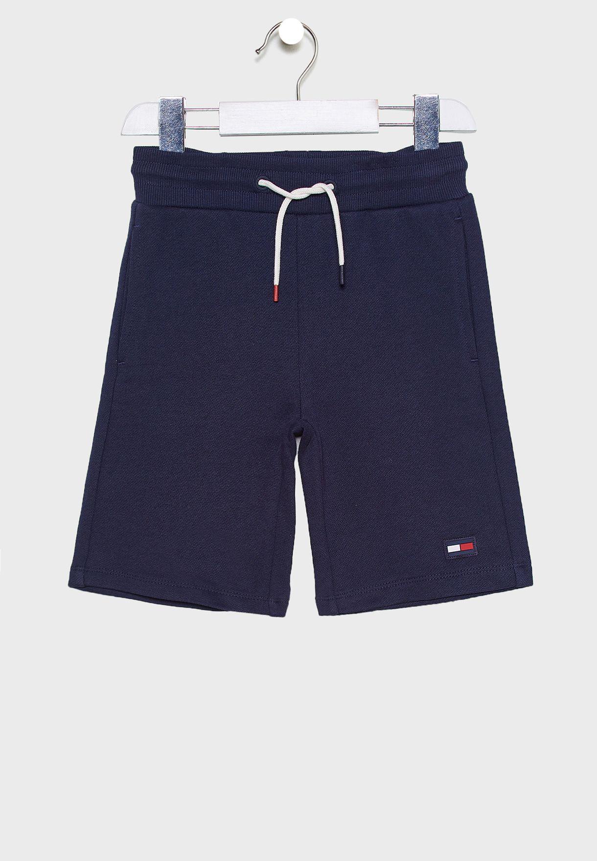 Kids Tie Waist Detail Sweat Shorts