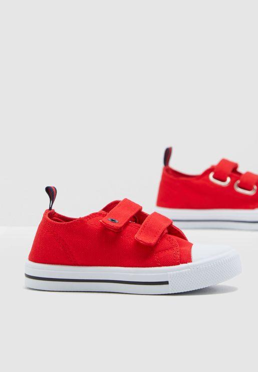 Kids Double Velcro Strap Sneaker