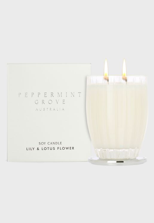 Lily and Lotus Flower Candle 350G