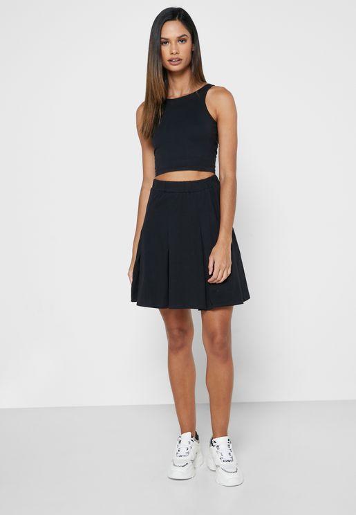 Basic Tank Top & Skirt Set