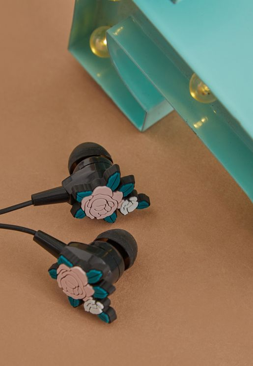 Floral Earphones