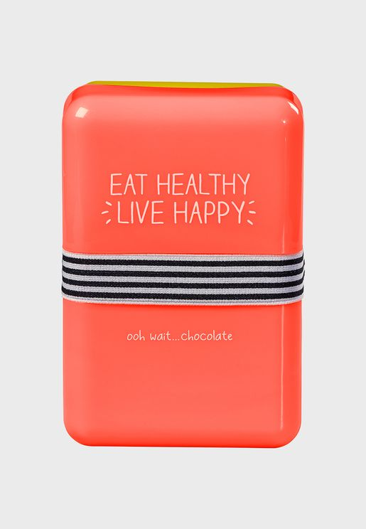 Eat Healthy Live Happy Lunch Box