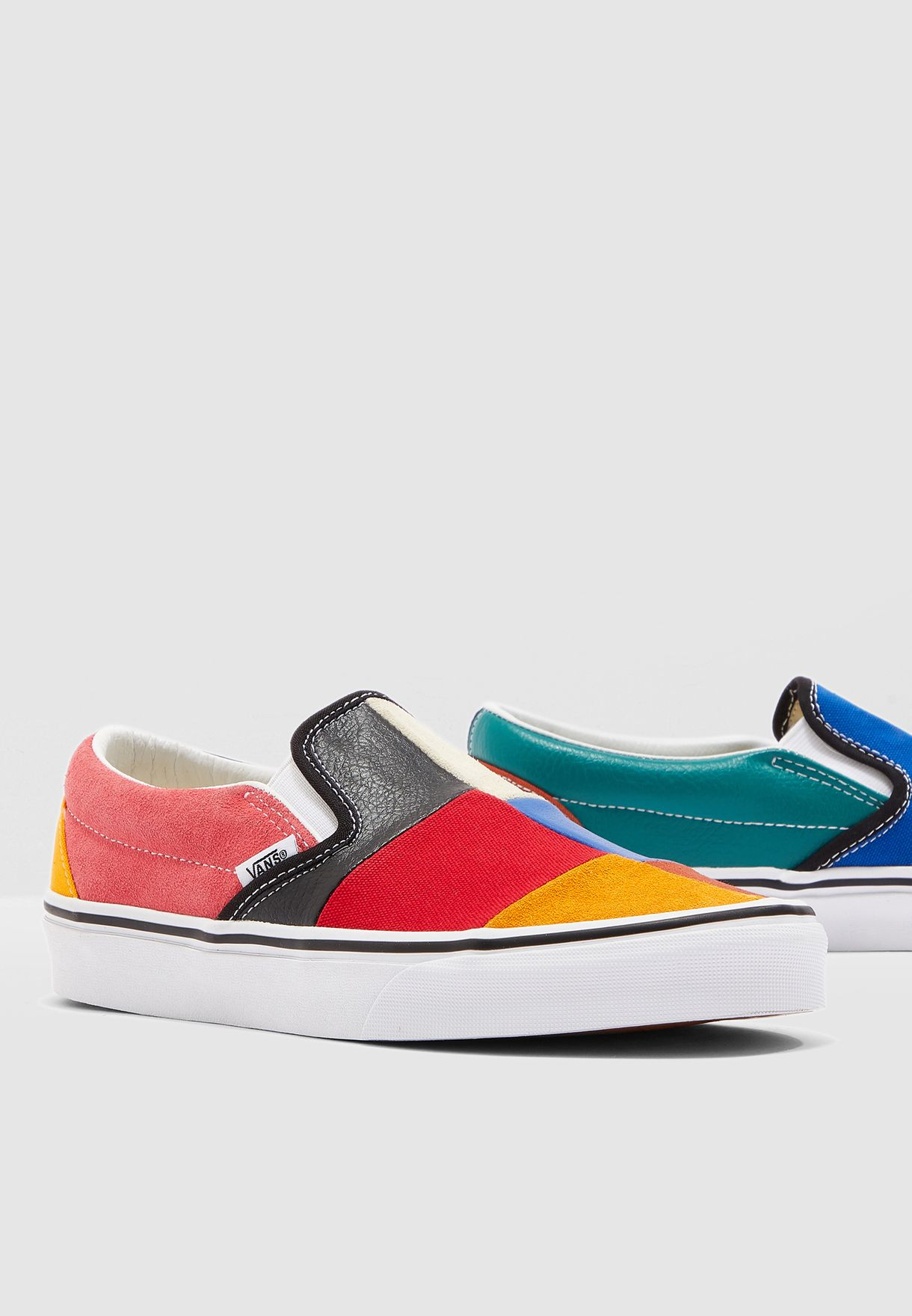 newest style of unequal in performance unique design Classic Patchwork Slip-On