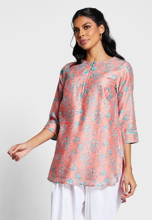 Silk Printed Tunic