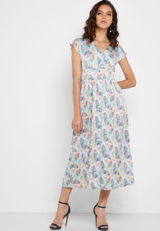 فستان مطبع بازرار