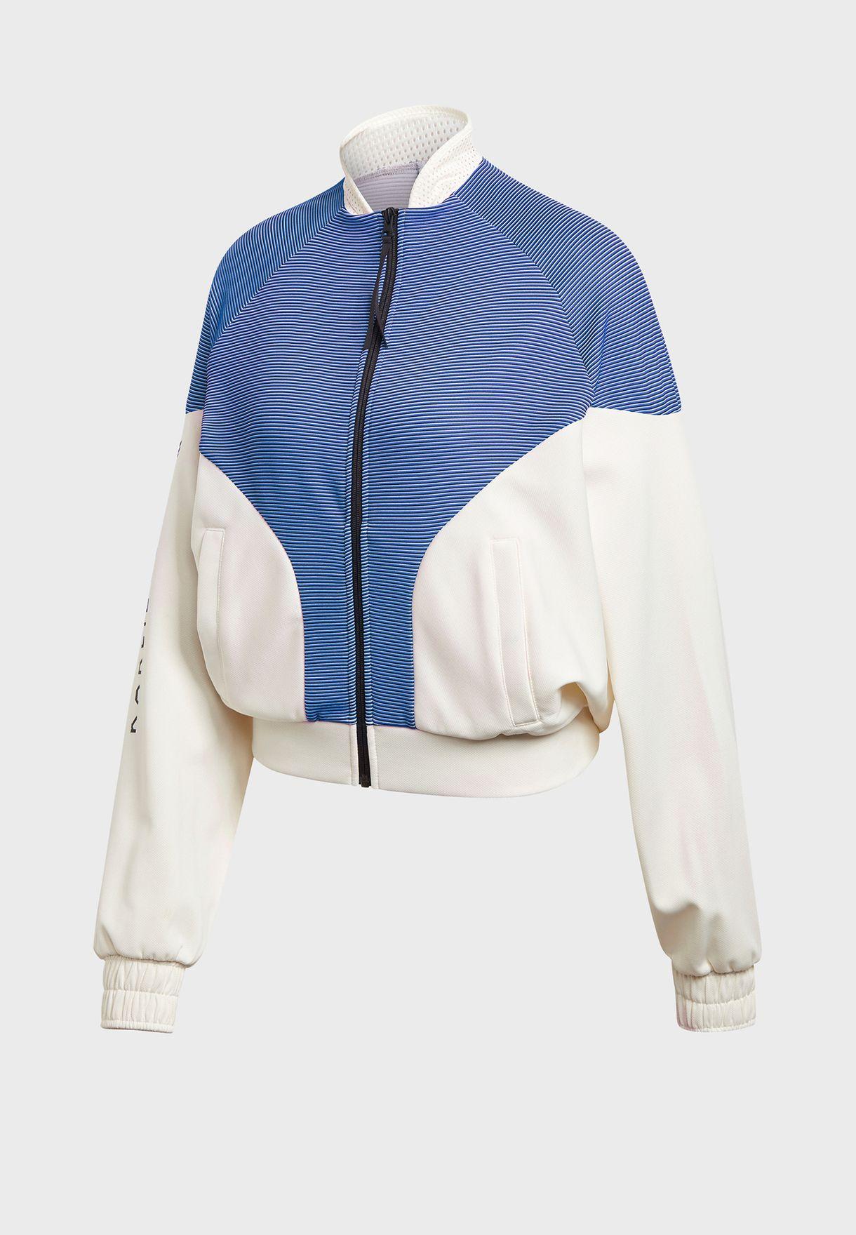 Karlie Kloss Colour Block Cover Up Jacket