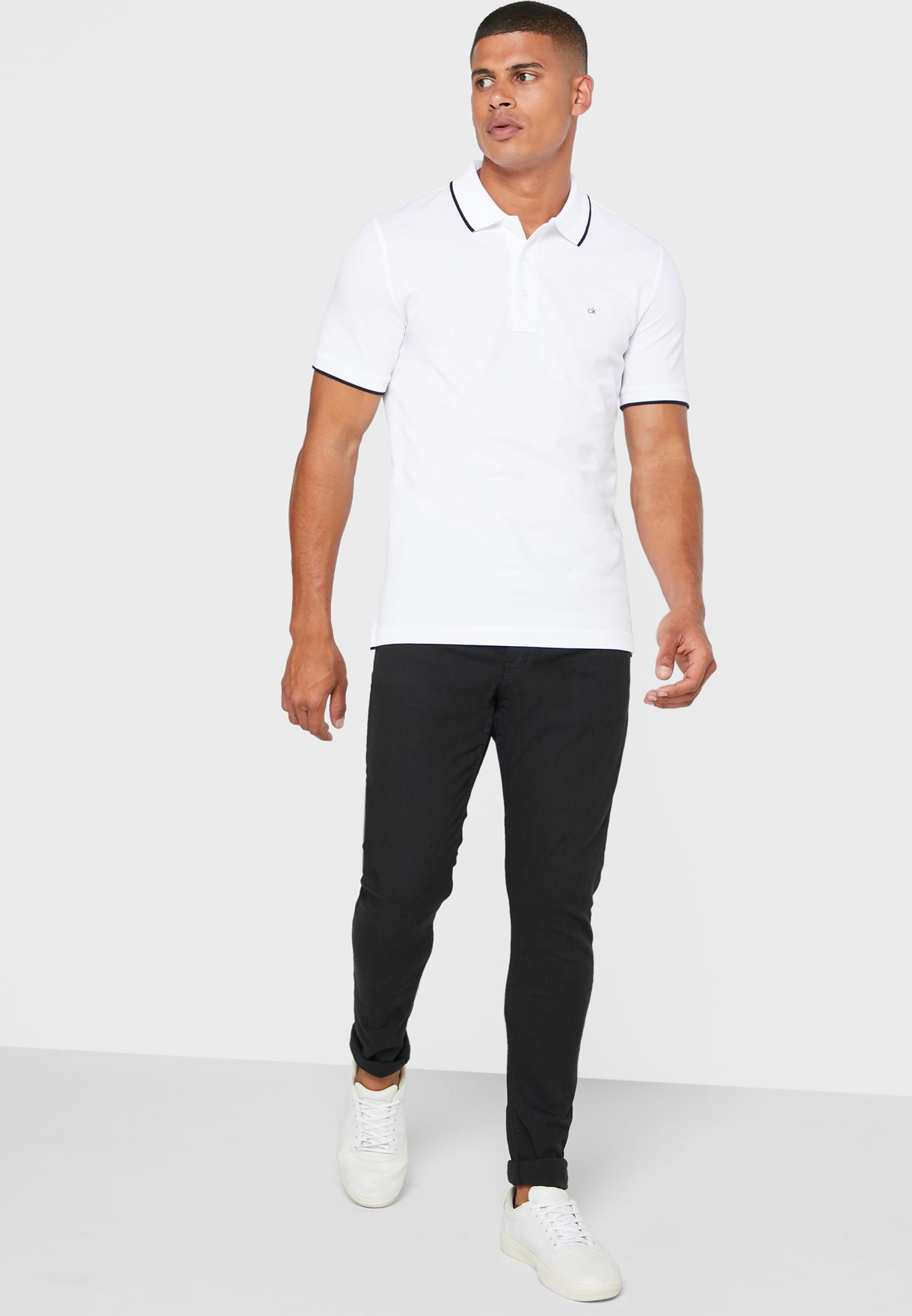 Stretch Tipping Slim Fit Polo