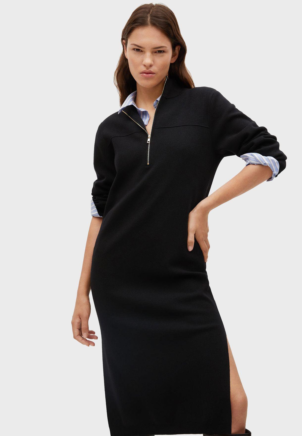 فستان محبوك