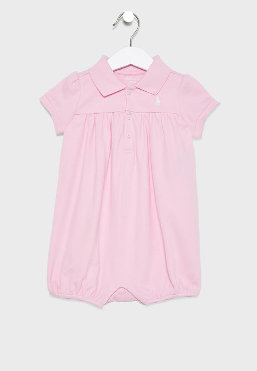 Infant Shirt Look Romper