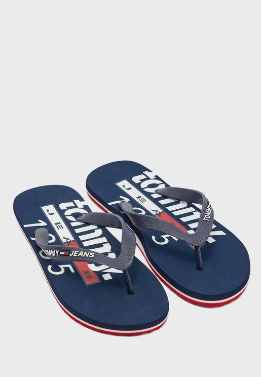 Beach Printed Flip Flops