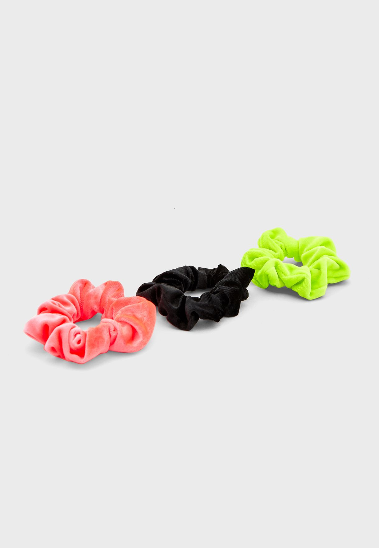 Multipack T Neon Velvet Scrunchie Headbands