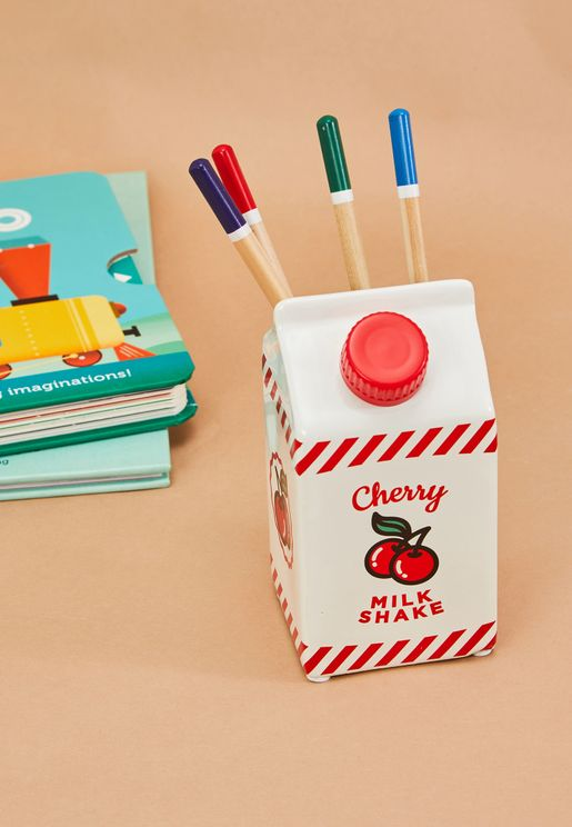 Milk Carton Shaped Pen Holder