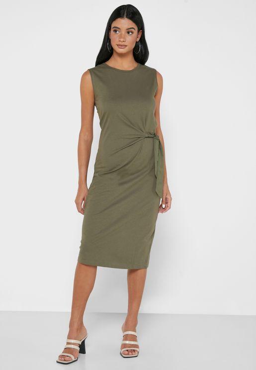 Side Knot Bodycon Dress