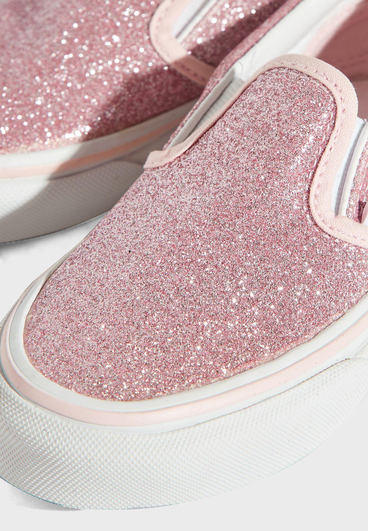 Kids Glitter Classic Slip-Ons