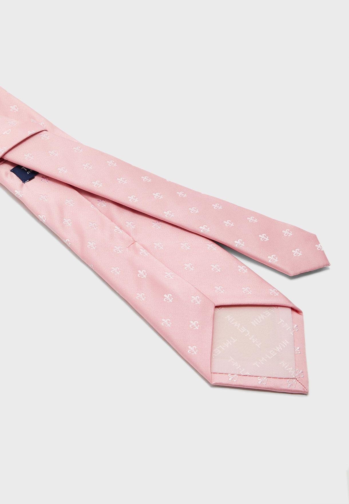 Fleur De Lys Silk Satin Tie