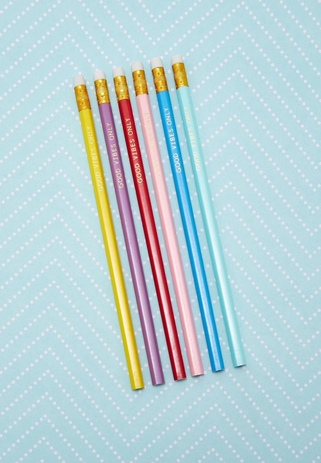 6 Pack Chasing Rainbow Pencils