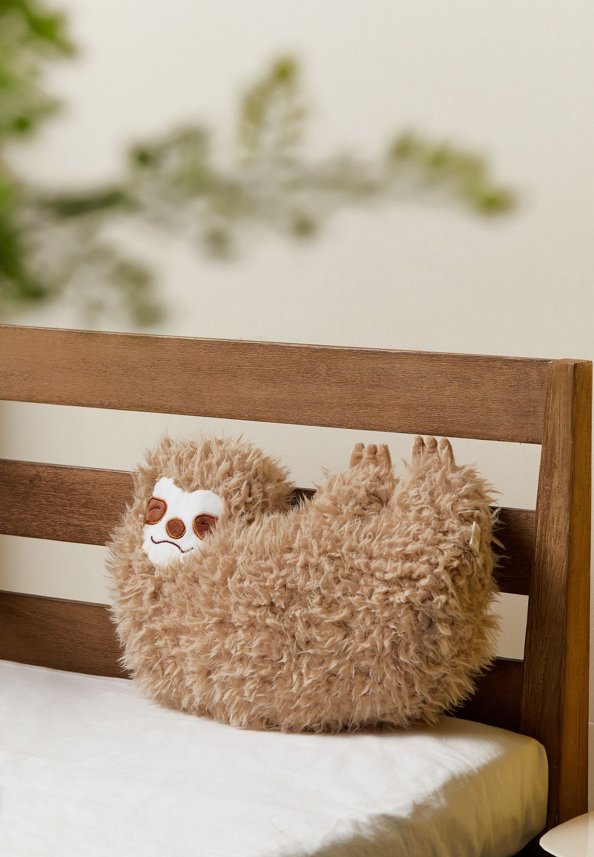 Sloth Shaped Cushion With Insert