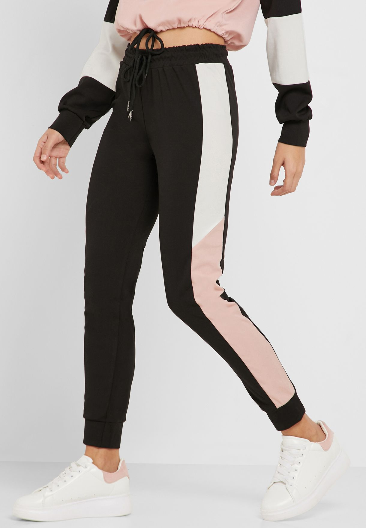 Colourblock Jogger Pants Set