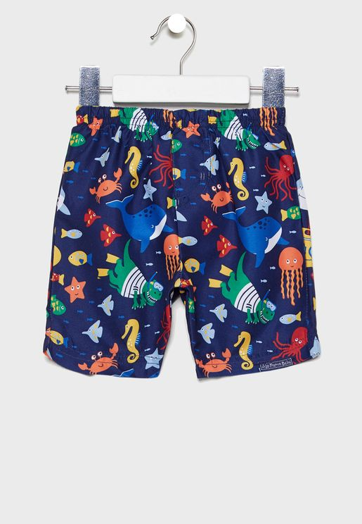 Kids Printed Swim Shorts