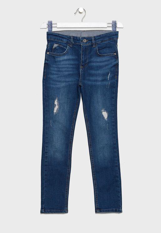 Kids Distressed Denim Jeans