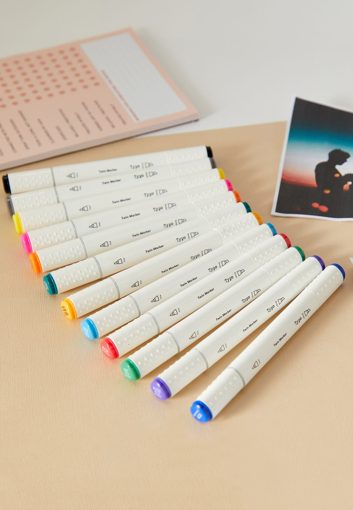 12 Pack Creative Bright Dual Markers
