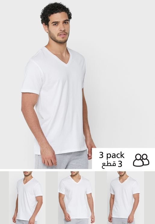 3 Pack V Neck T-Shirts