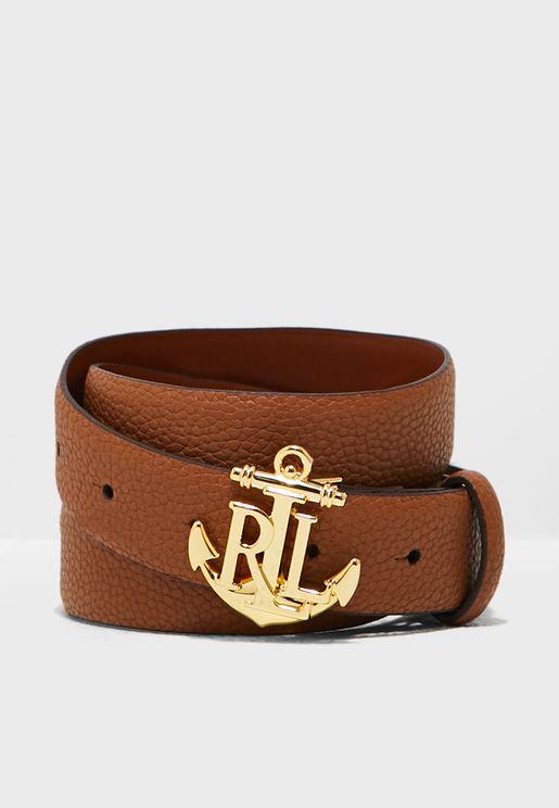 Anchor Logo Buckle Belt