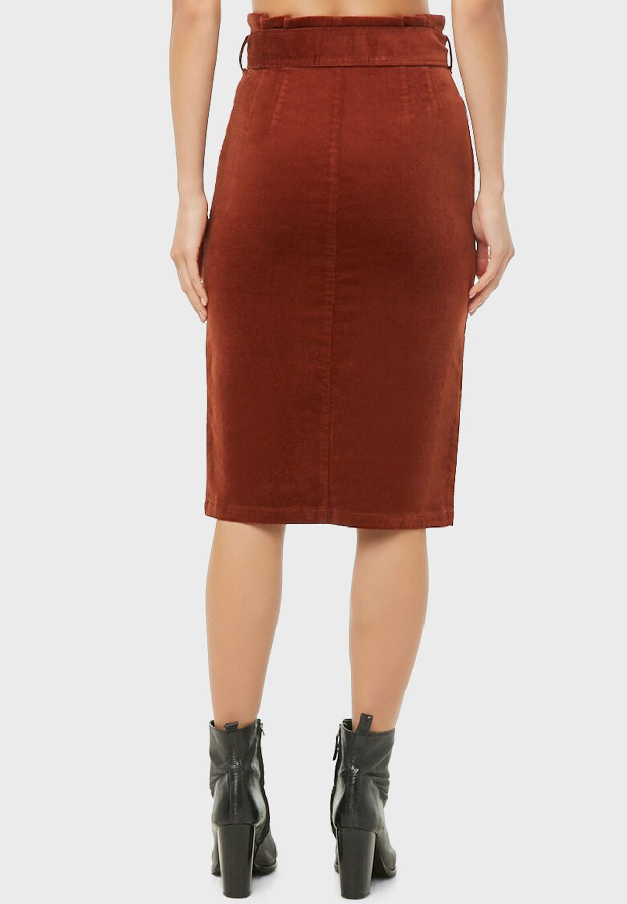 Front Knot Midi Skirt