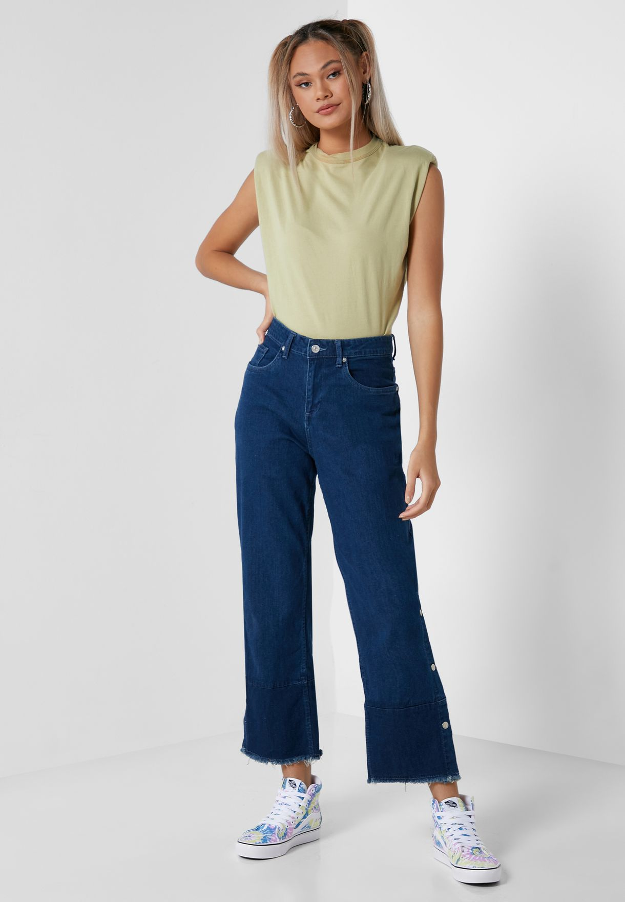 Contrast Coloured Jeans